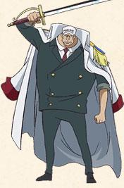 海軍中将。巨人族。